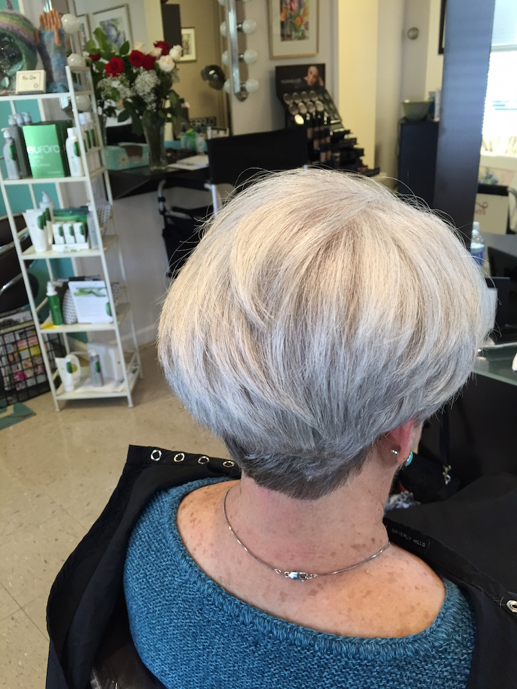 Womens haircut short Guilford CT